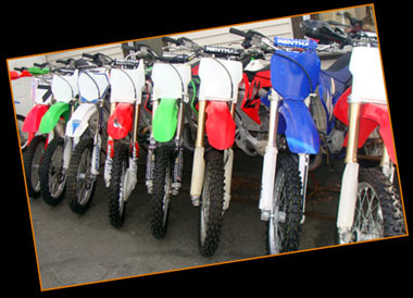 Low cost used Honda dirt bikes, Yamaha dirt bikes, Suzuki dirt bikes, Kawasaki dirt bikes, MA, RI, NH, CT