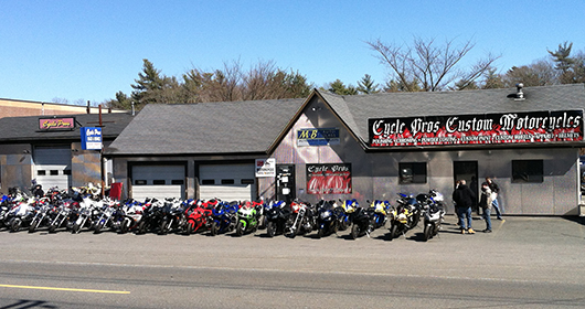 Cycle Pros in Bridgewater, MA, sells and services used motorcycles for street bike riders in MA & RI